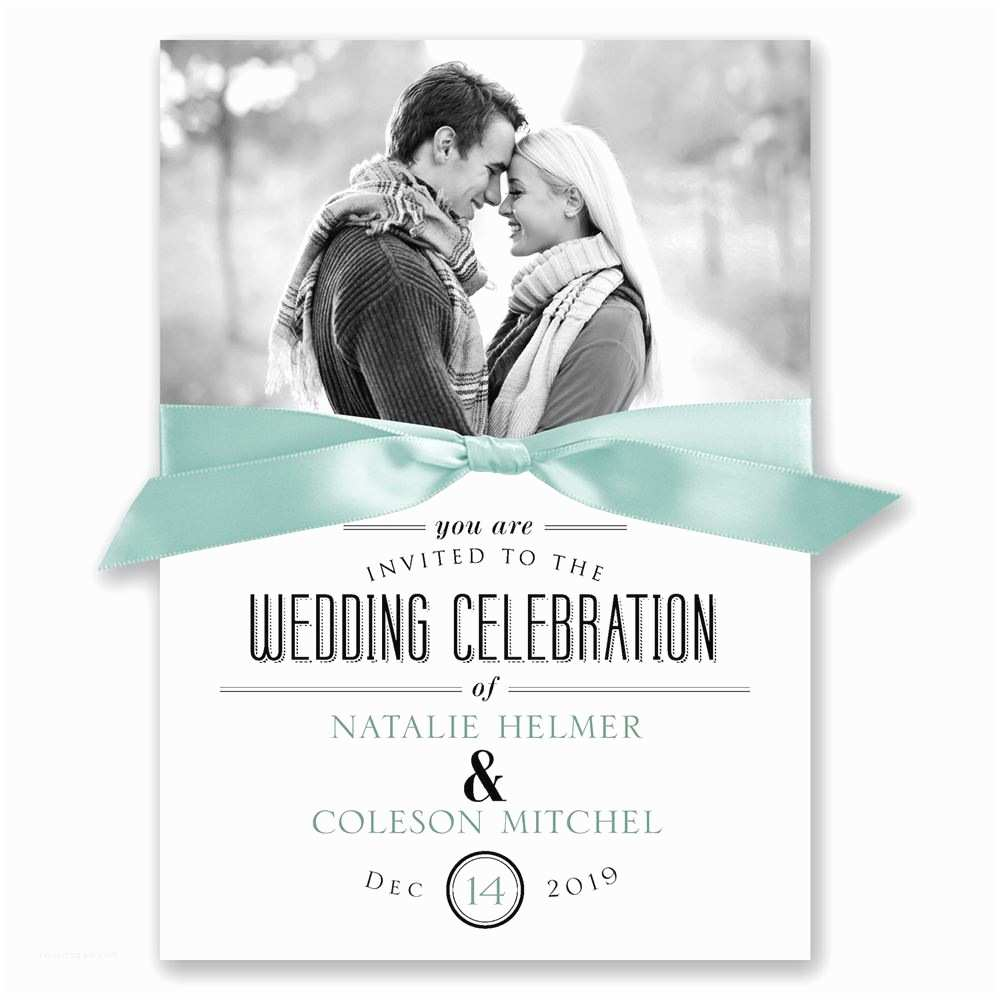 Photo Wedding Invitations A Wedding Celebration Invitation