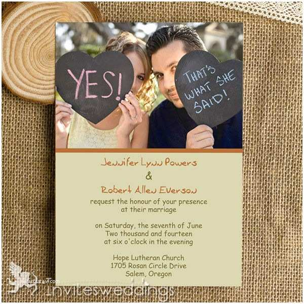Picture Wedding Invitations Affordable Funny Simple Wedding Invitations Iwi318
