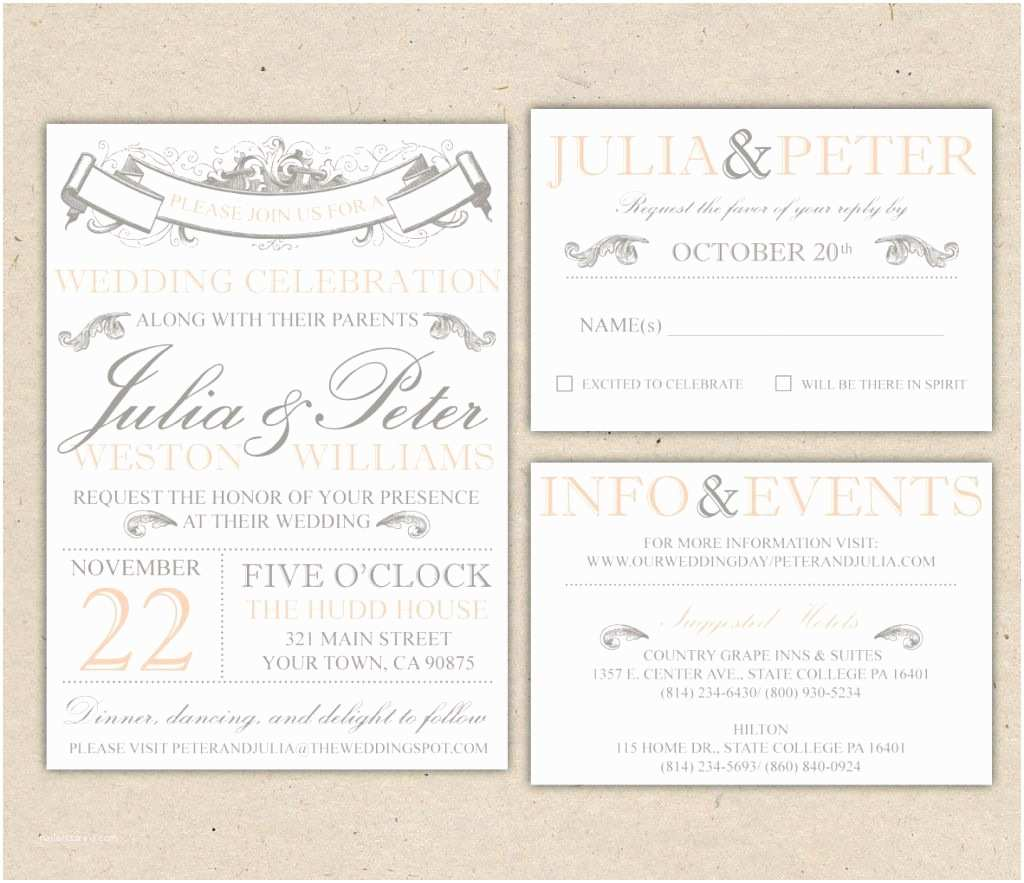 Picture Wedding Invitations Beach Wedding Invitation Templates for Microsoft Word