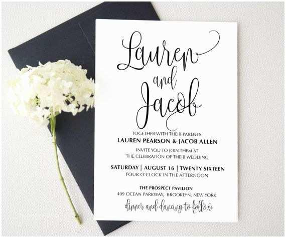 Picture Wedding Invitations Best 25 Printable Wedding Invitations Ideas On Pinterest