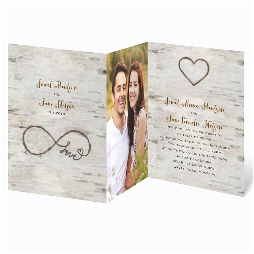 Picture Wedding Invitations Love for Infinity Zfold Invitation
