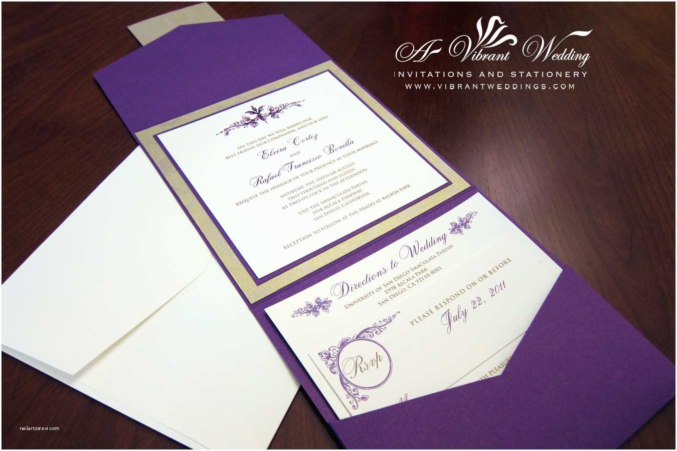 Picture Wedding Invitations Royalty and Elegant Purple Wedding Invitations