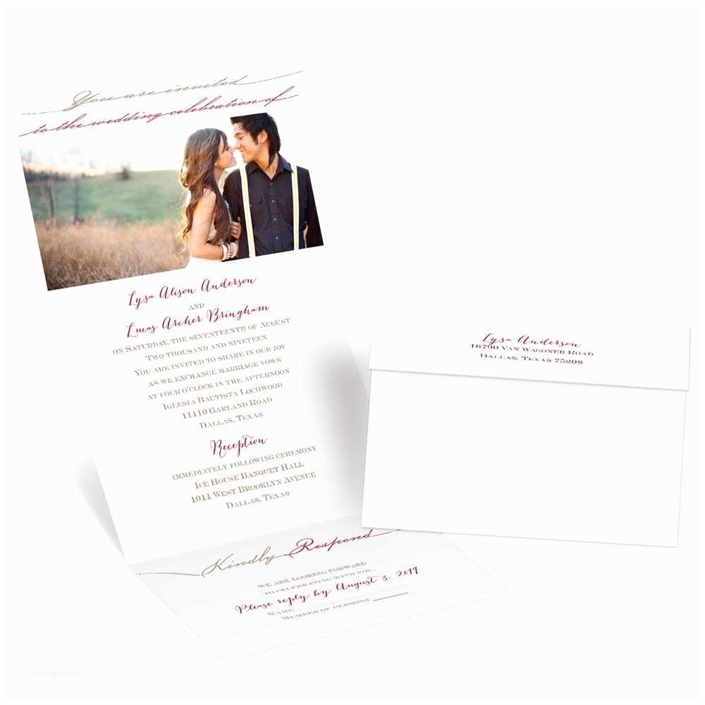Picture Wedding Invitations Simply Inviting Seal and Send Invitation