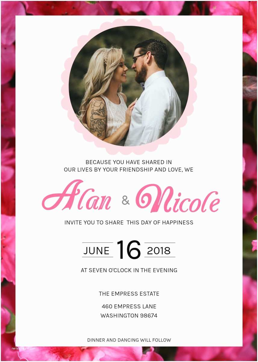 Picture Wedding Invitations Your Guide to Diy Wedding Invites with Templates