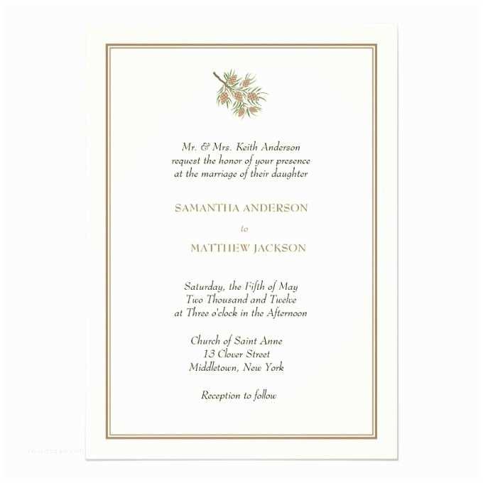 Pine Wedding Invitations 1816 Best Winter Wedding Invitations Images On