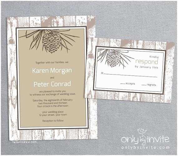 Pine Wedding Invitations 7 Best Pine Cone Invites Images On Pinterest