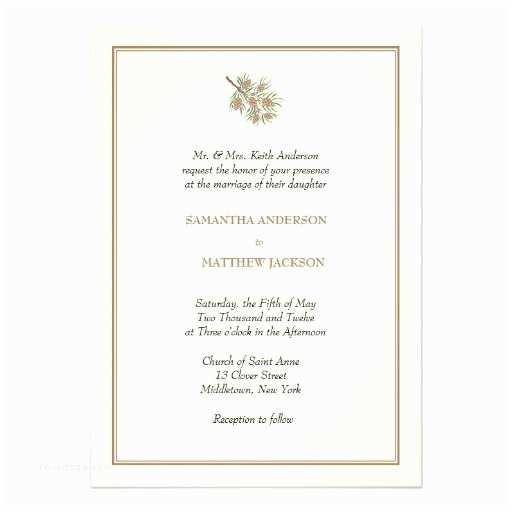 Pine Wedding S Elegant Pine Cone Wedding