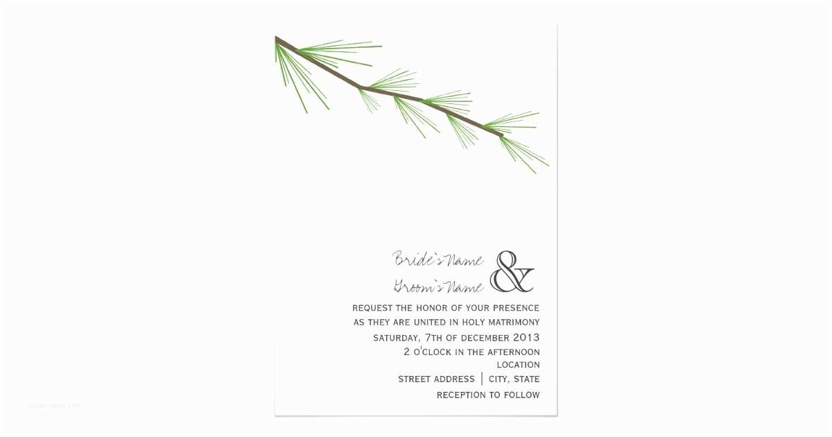Pine Wedding S Pine Bough Wedding