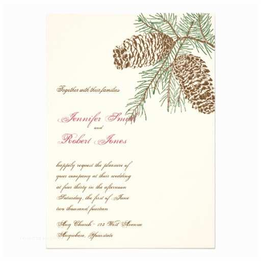 Pine Wedding S Pine Cone Nature On Cream Wedding