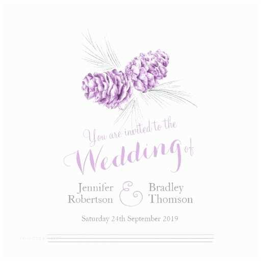 Pine Wedding  Pine Cones Art Purple Grey Wedding