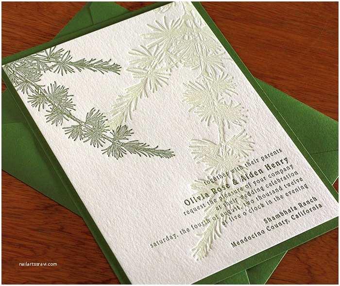 Pine Wedding Invitations Pine Tree Wedding Invitation Gallery