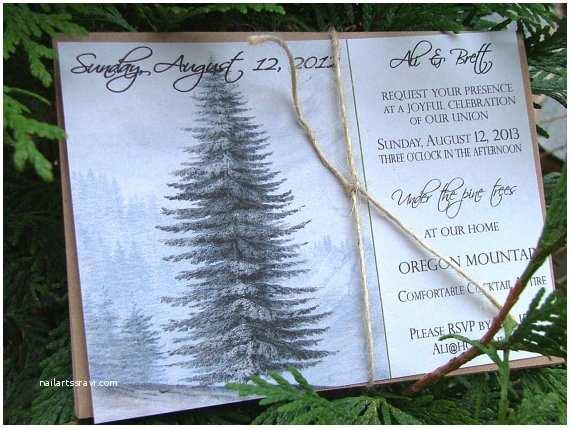 rustic wedding invitations natural