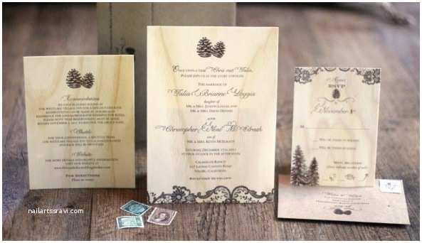Pine Wedding Invitations Wedding Wednesday Pine Cone Wedding Details — Boston