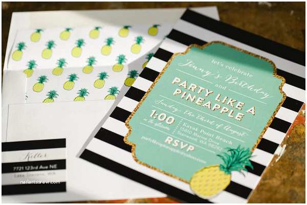 Pineapple Party Invitations 10 Lovely Pineapple Party Invitations B Lovely events