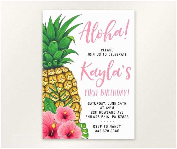 Pineapple Party Invitations Best 25 Hawaiian Invitations Ideas On Pinterest