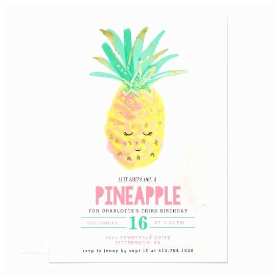 Pineapple Party Invitations Let S Party Like A Pineapple Birthday Invitation