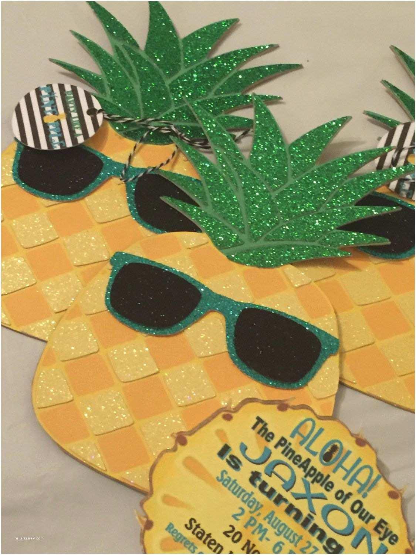 Pineapple Party Invitations Party Like A Pineapple Hawaiian Luau Invitations Birthday