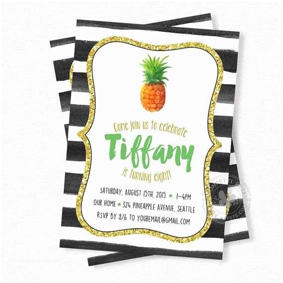 Pineapple Party Invitations Pineapple Birthday Invitation Pineapple Party Watercolor