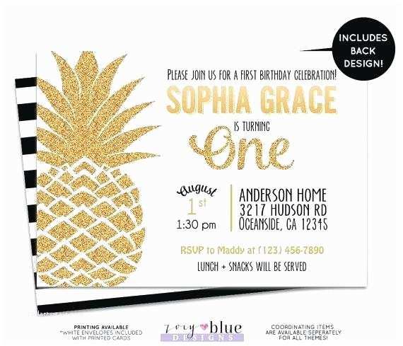 Pineapple Party Invitations Pineapple Birthday Invitations – Karabas