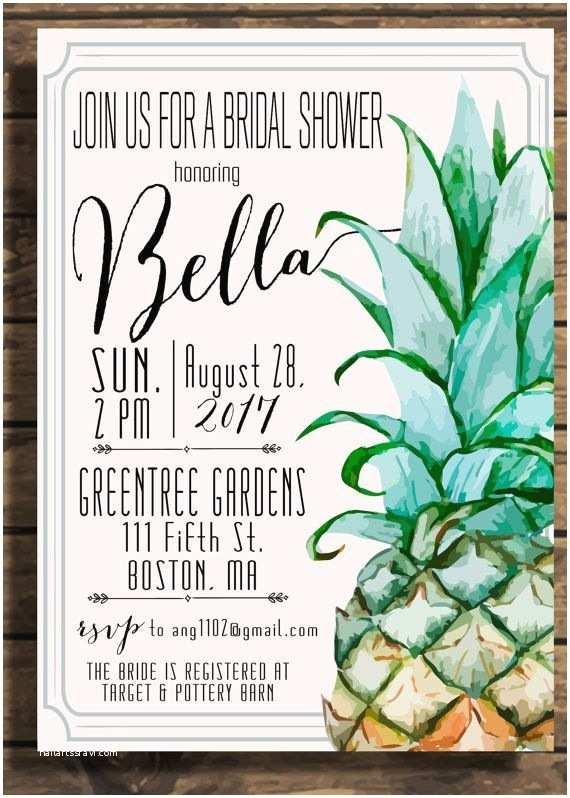 Pineapple Party Invitations Pineapple Invitation Pineapple Bridal Shower Pineapple
