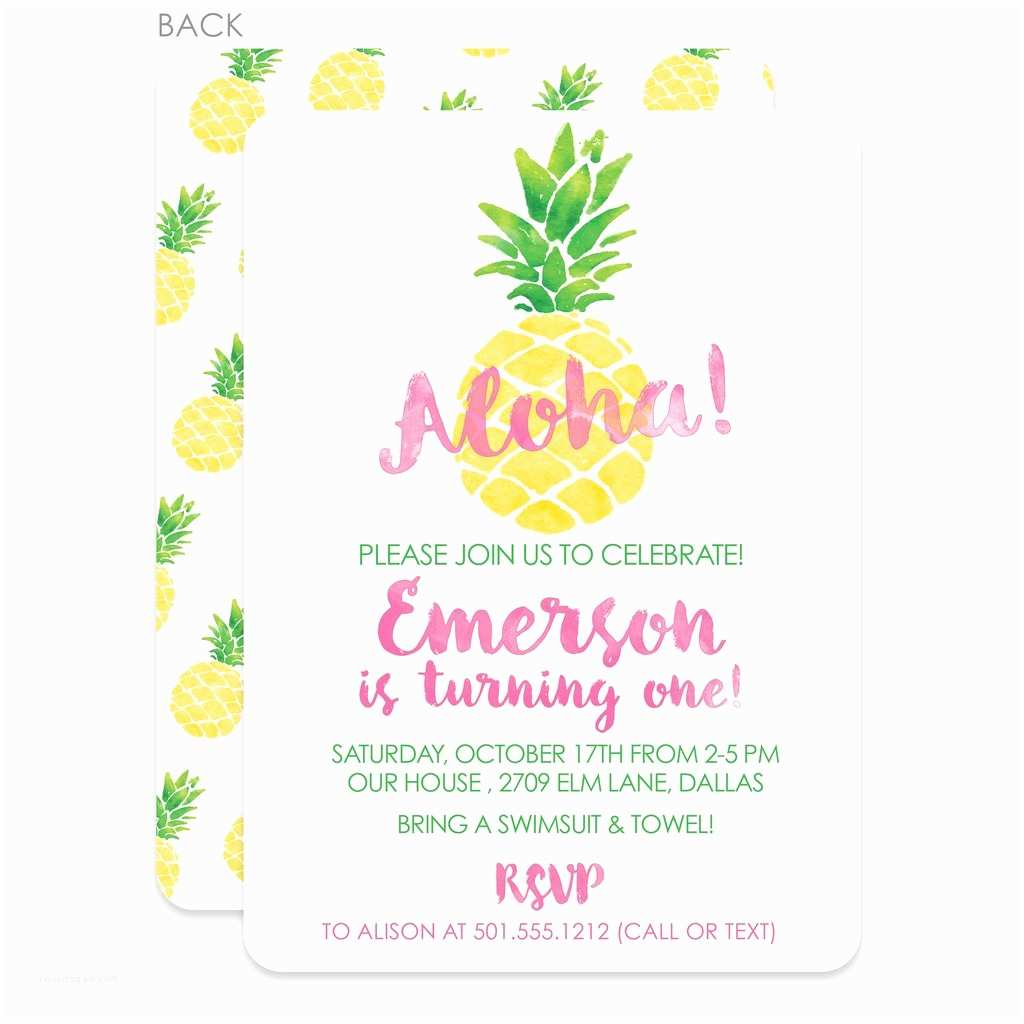 Pineapple Party Invitations Pineapple Party Birthday Invitation – Pipsy