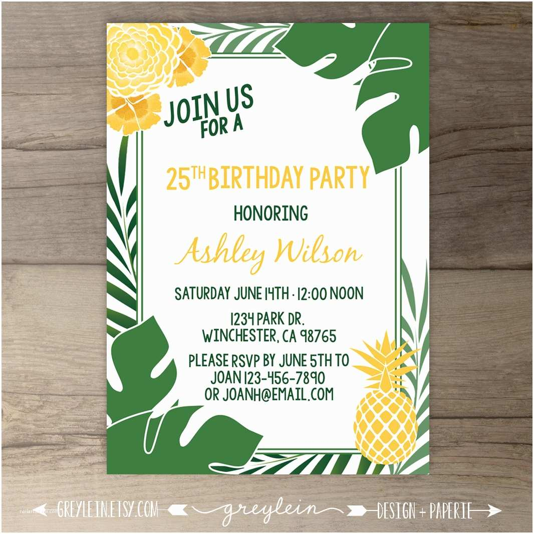Pineapple Party Invitations Tropical Pineapple Party Invitations Havana Nights Cuban