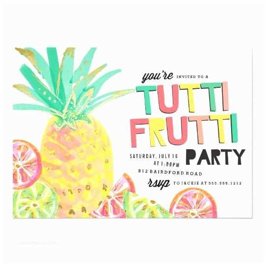 Pineapple Party Invitations Tutti Frutti Pineapple Birthday Party Invitation