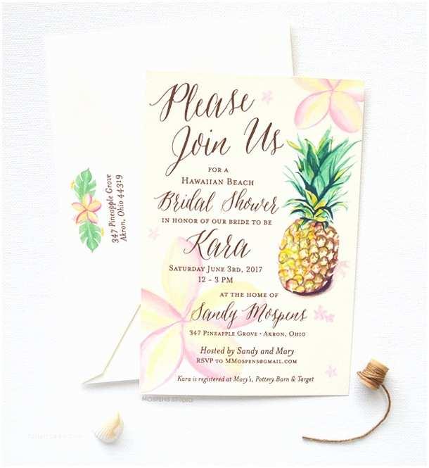 Pineapple Wedding Invitations 15 Tropical Bridal Shower Invitations & Details