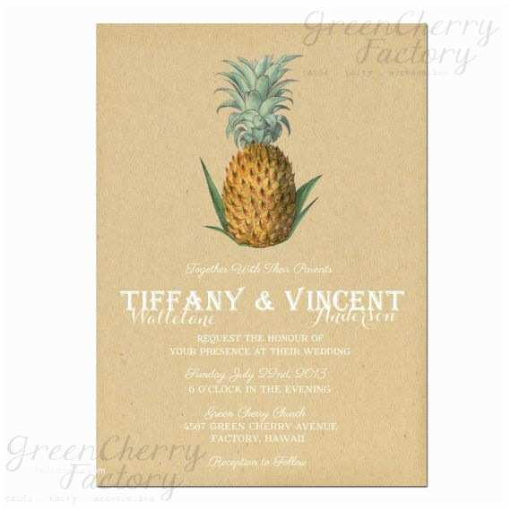 Pineapple Wedding Invitations 17 Best Images About Pineapple Stationary On Pinterest