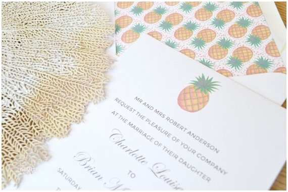 Pineapple Wedding Invitations Items Similar to Watercolor Pineapple Wedding Invitation