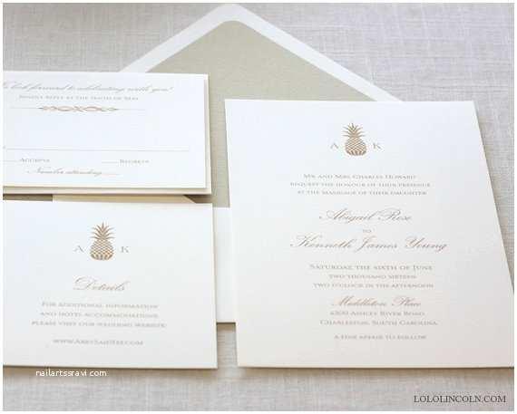 Pineapple Wedding Invitations Pineapple Wedding Invitations Gold Pineapple Wedding