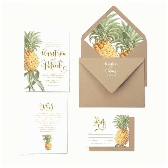Pineapple Wedding Invitations Pineapple Wedding Invitations