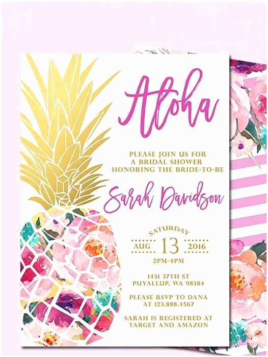 Pineapple Wedding Invitations Printable Bridal Shower Invitations You Can Diy
