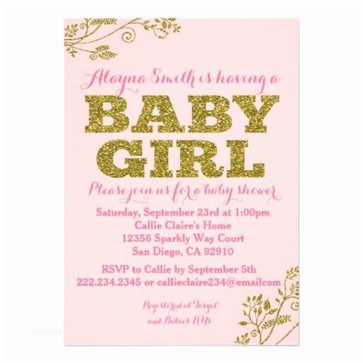 Pink and Gold Baby Shower Invitations 2 000 Glitter Baby Shower Invitations Glitter Baby