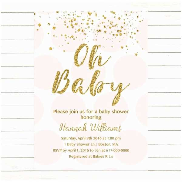 Pink and Gold Baby Shower Invitations Best 25 Gold Baby Showers Ideas On Pinterest