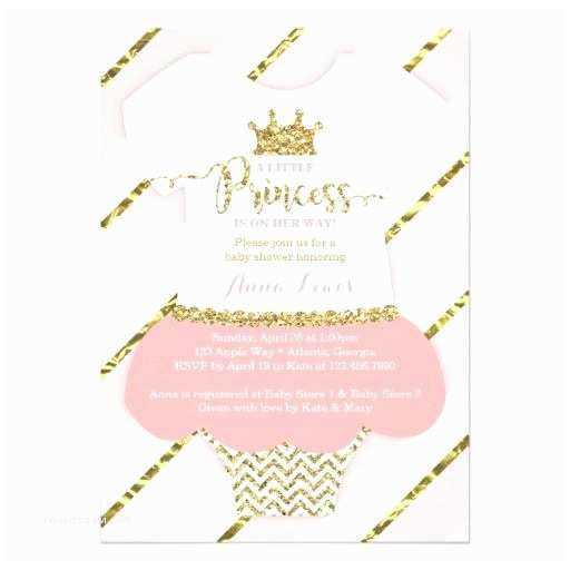 Pink and Gold Baby Shower Invitations Glitter Baby Shower Invitations