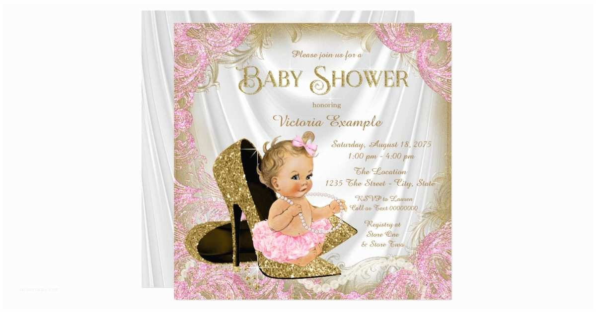 Pink and Gold Baby Shower Invitations Pink and Gold Baby Shower Invitations – Gangcraft