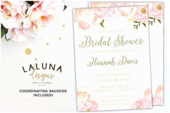 Pink and Gold Bridal Shower Invitations Bridal Shower Invitation Bridal Shower Invites Pink