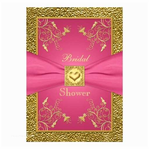 Pink and Gold Bridal Shower Invitations Pink and Gold Floral Bridal Shower Invitation