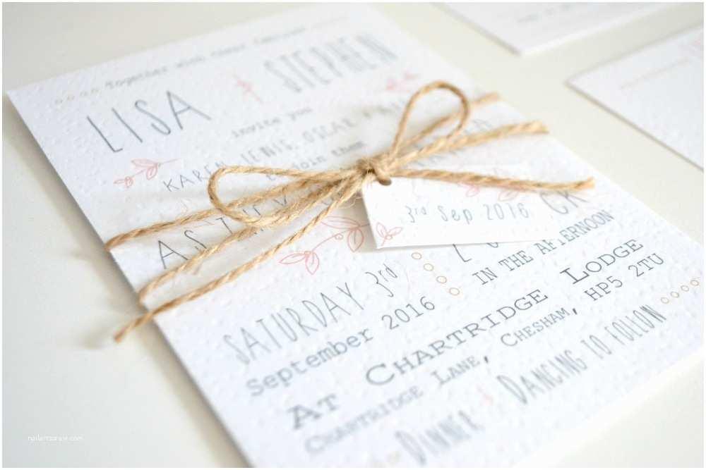 Pink and Gold Wedding Invitations Rustic Pink Wedding Invitation