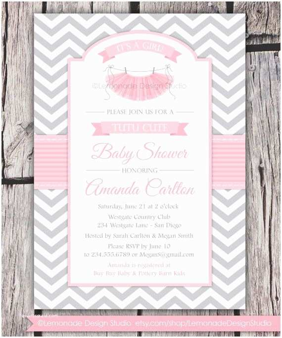 Pink and Gray Baby Shower Invitations Pink and Gray Baby Shower Invitations