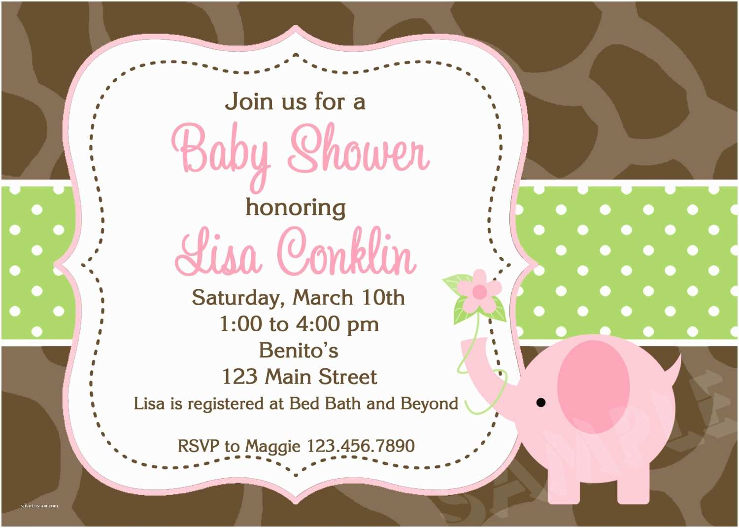 Pink and Gray Baby Shower Invitations Pink and Gray Couples Baby Shower Invitation Card with