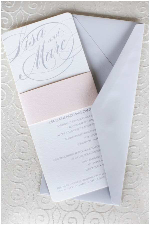 Pink and Gray Wedding Invitations Gray and Pale Pink Wedding Invi Blog Grace Style