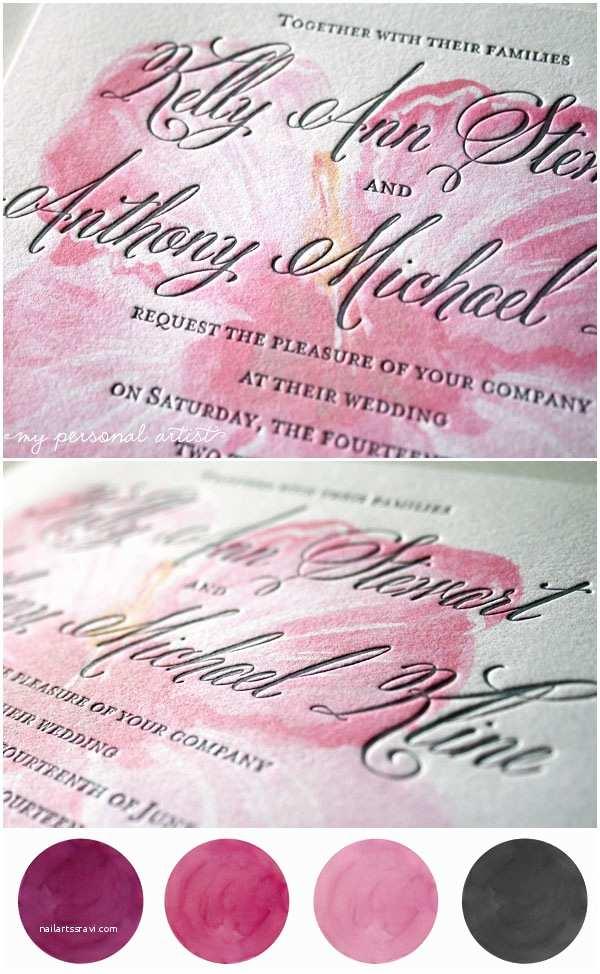Pink and Gray Wedding Invitations Pink & Gray Letterpress Wedding Invitations Custom Save