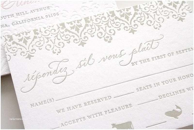 Pink and Gray Wedding Invitations Romantic Pink Gray Wedding Invitations