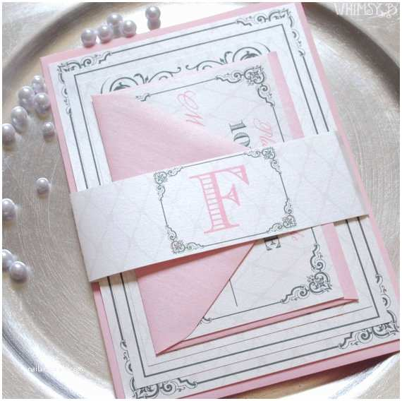Pink and Grey Wedding Invitations Blush Wedding Invitations Blush and Silver Pink Wedding