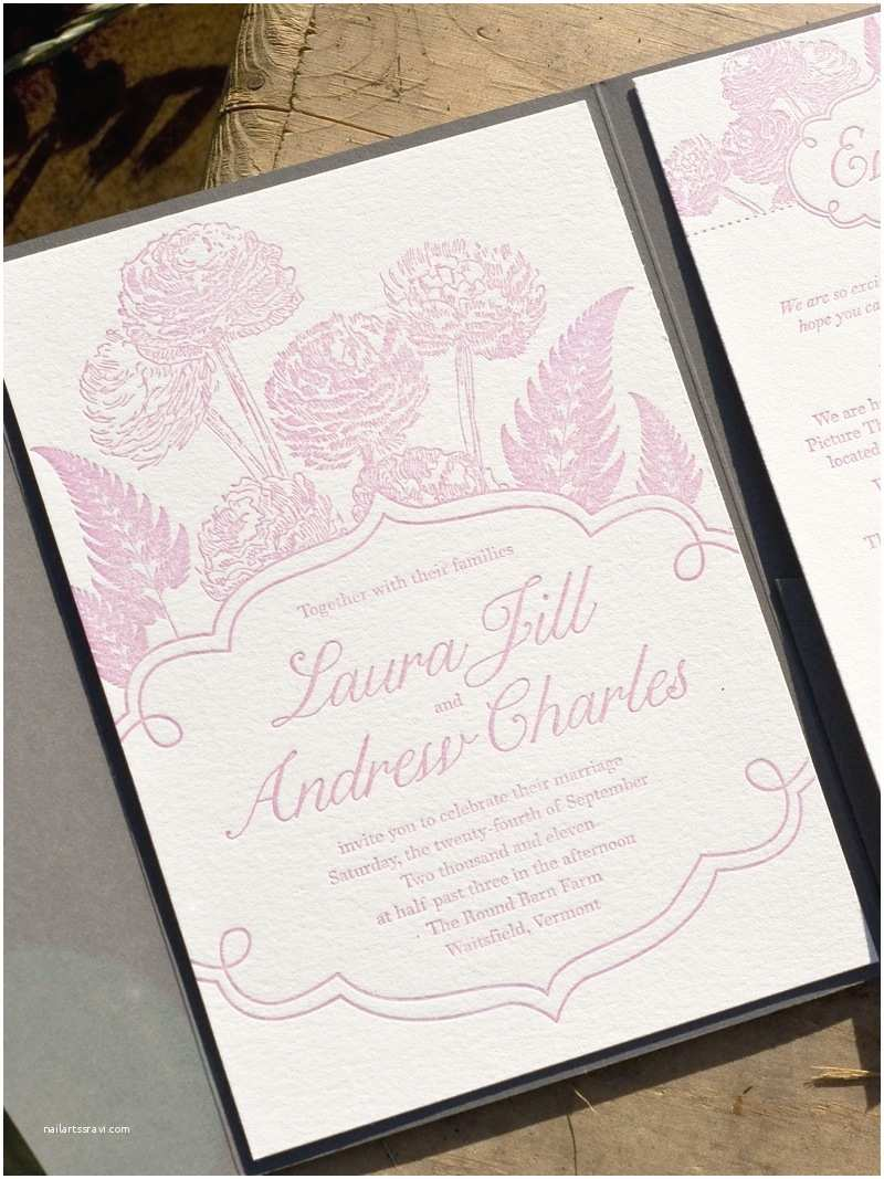 Pink and Grey Wedding Invitations Laura andrew S Pink and Gray Floral Wedding Invitations