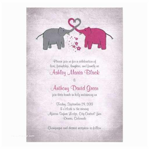 Pink And Grey Wedding S Pink And Grey Elephant Wedding