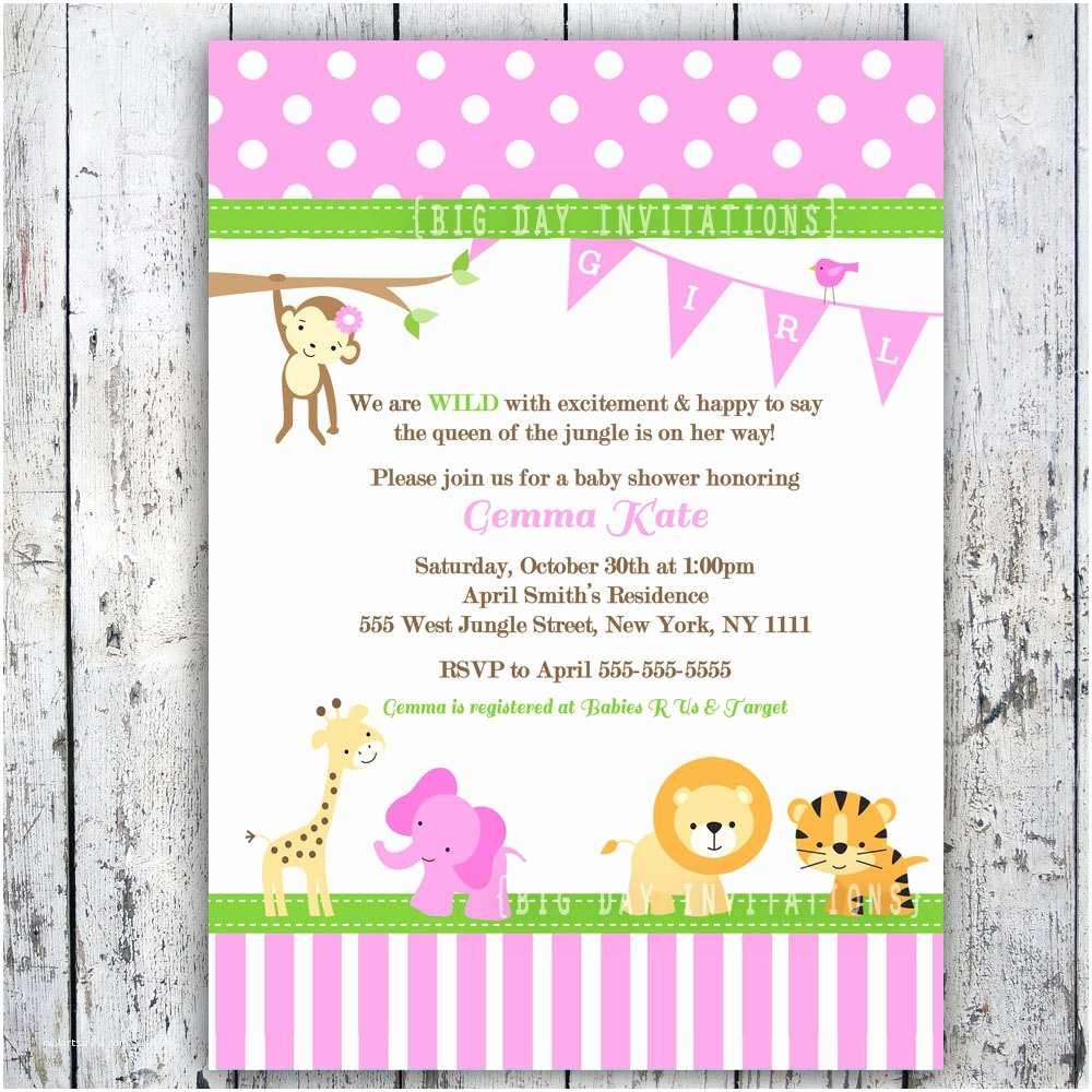 Pink Baby Shower Invitations Baby Shower Invitation Templates Pink Safari Baby Shower
