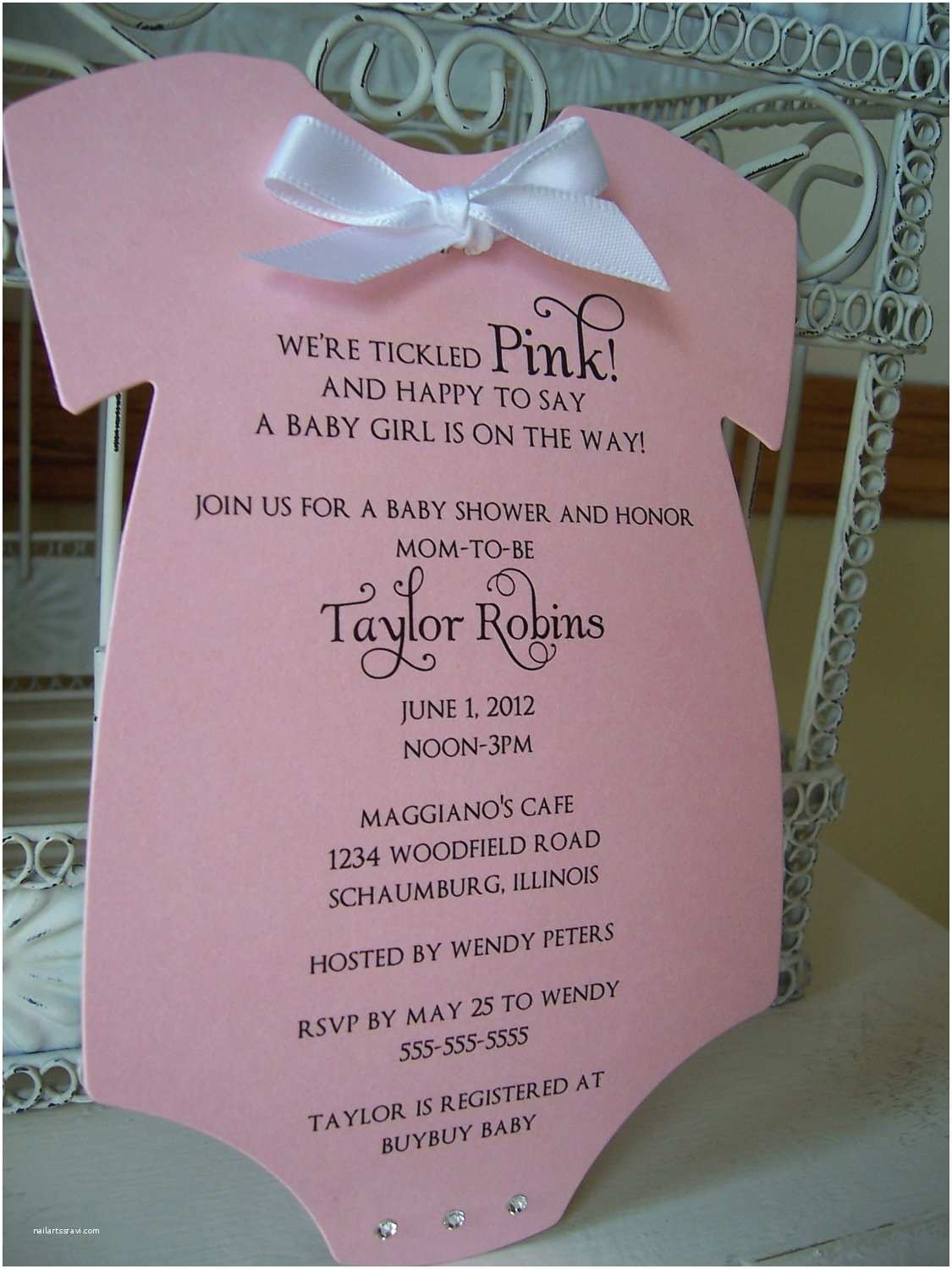 Pink Baby Shower Invitations Think Pink Baby Shower Invitation Custom by